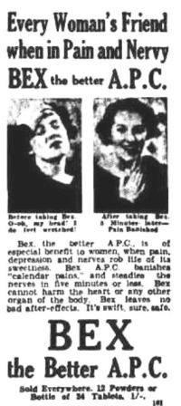 No doubt many people felt nervy and in need of a Bex during the years of the Great Depression (from Rockhampton's Morning Bulletin, 23 June 1938, trove.nla.gov.au