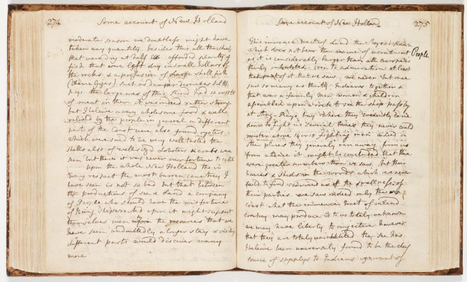 From the Endeavour Journal of Sir Joseph Banks (State Library of NSW)