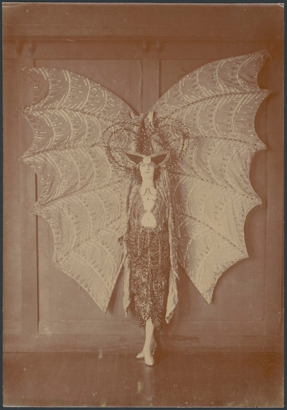 Portrait of Pixie Herbert in a bat costume, c 1923, NLA Commons on Flickr