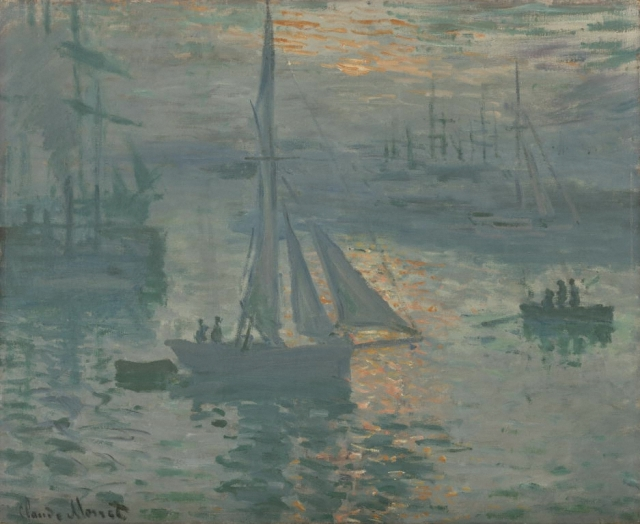 Sunrise (Marine), March or April 1873, by Claude Monet (1840-1926), oil on canvas, the J. Paul Getty Museum, Los Angeles
