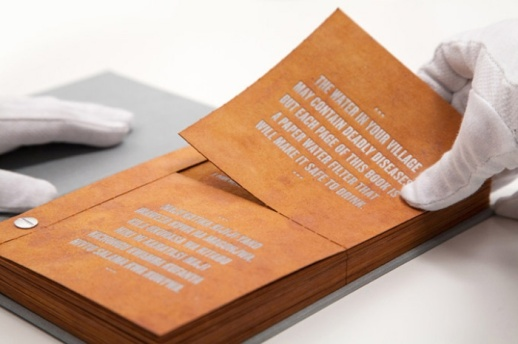 Pages from the drinkable book